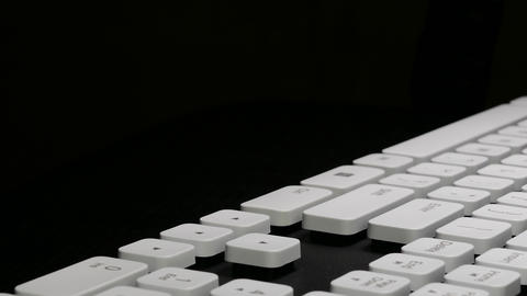 4K Ungraded: Typing on Computer / Keyboard Keys / Arrow Keys Live Action
