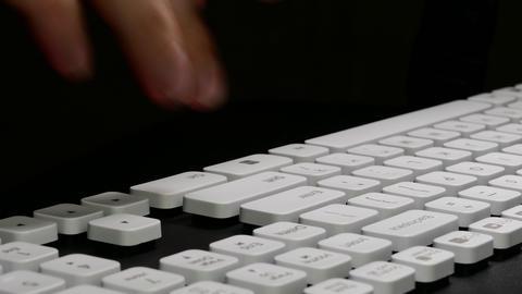 4K Ungraded: Typing on Computer / Keyboard Keys / Enter Key Live Action