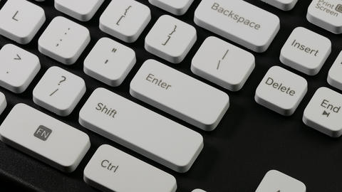 4K Ungraded: Typing on Computer / Keyboard Keys / Enter Key Footage