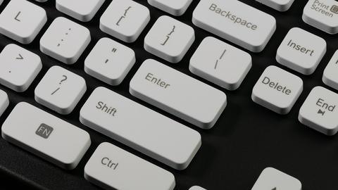 Ungraded: Typing On Computer / Keyboard Keys / Enter Key stock footage