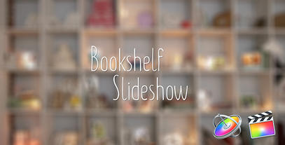 Bookshelf Slideshow - Motion Photo Gallery Apple Motion Template