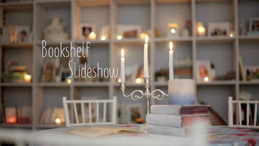 Bookshelf Slideshow - After Effects Photo Gallery After Effects Template