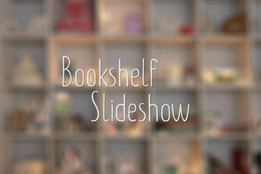 Bookshelf Slideshow - AE Photo Gallery stock footage
