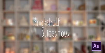 Bookshelf Slideshow - After Effects Photo Gallery Plantilla de After Effects