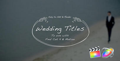 Wedding Hand Drawn Titles Apple Motion 模板
