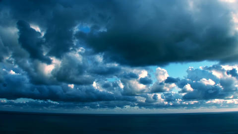 Epic Stormy Timelapse Mysterious Blue Clouds Footage