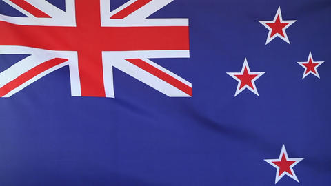 National flag of New Zealand Footage
