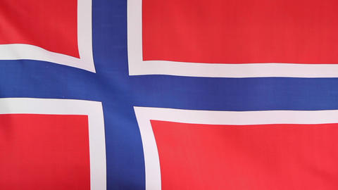 National flag of Norway Footage