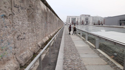 Topography of Terror Documentation Center and Berlin Wall in Berlin Germany Footage