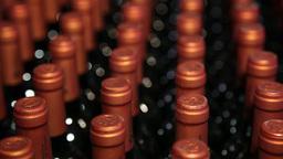 bottles of wine, focus defocus Footage