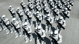 Space Opera: Marching Troopers (Birds Eye View) Animation