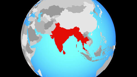 Zooming to BIMSTEC memeber states on globe Animation