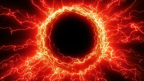 Red electric tesla coil Animation