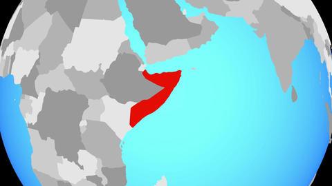 Zooming to Somalia on globe Animation