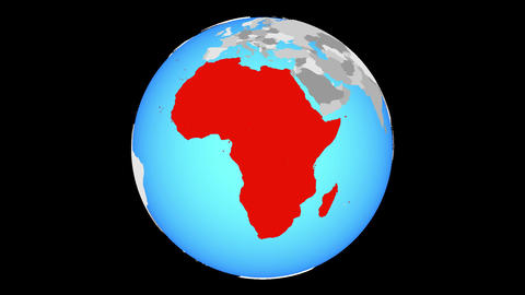 Zooming to Africa on globe Animation