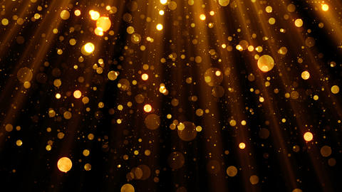 Glitter celebration texture with golden particles come from the top Animation