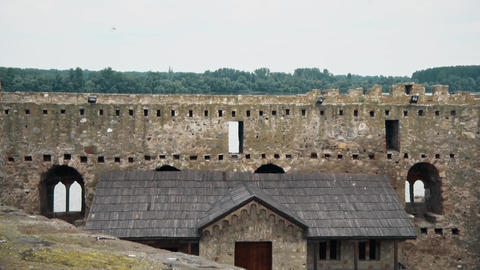 Old Fortress from the Middle Ages, Wall and house Footage