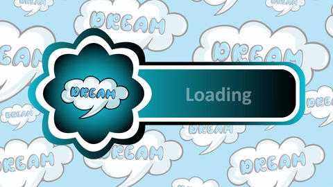 Dream loading icon CG動画素材