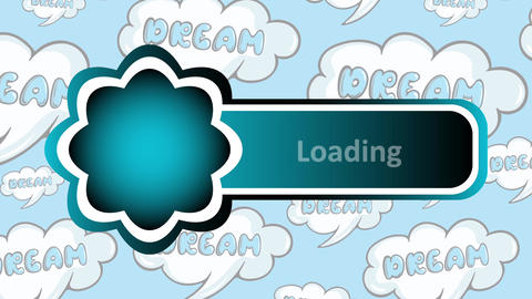 Empty icon on dream back Animation