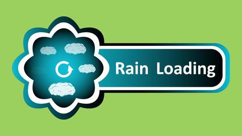 Icon rain loading and green back CG動画素材