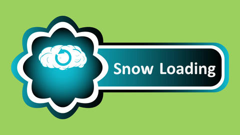 Icon snow loading and snowflakes Animation