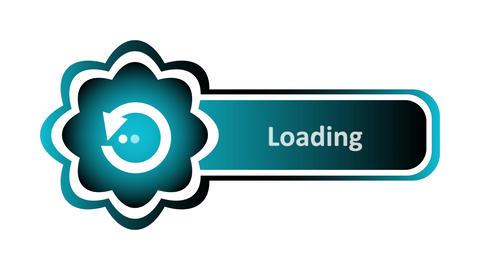 Loading icon on white back Animation