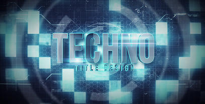 Techno Title Motion Graphics Template