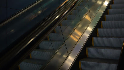 moving escalator without people Footage