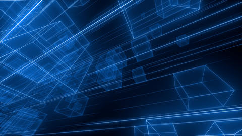 3D Cube Space Animación