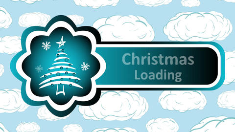 Christmas loading and clouds Animation