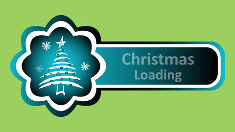 Christmas loading on green Animation