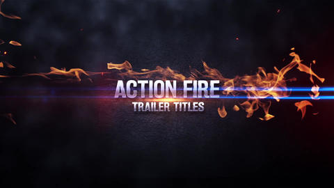 Action Fire Trailer Title After Effects Template