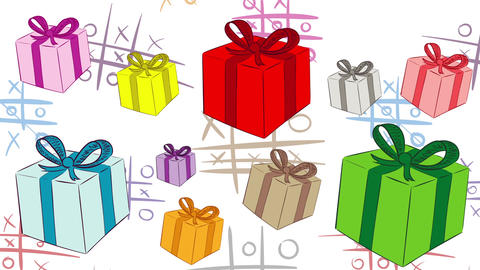 Heap of gifts and tic-tac-toe CG動画素材