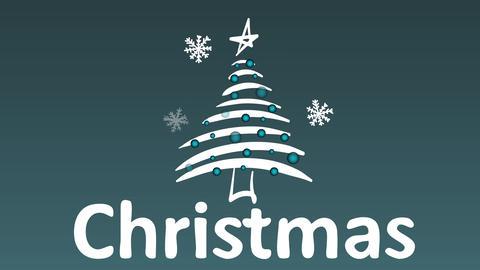 Snowflakes fir-tree and magic Christmas Animation