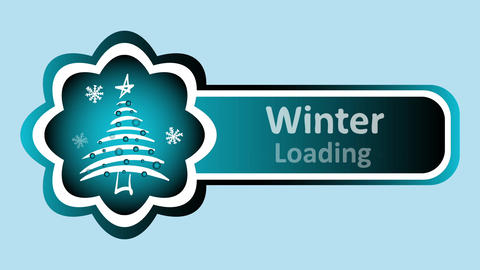 Winter loading and Christmas tree blue Animation