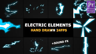 Dynamic Electric Elements Motion Graphics Template
