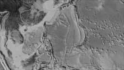 Philippine Sea tectonic plate. Elevation grayscale. Borders first. Van der Animation