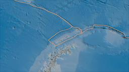 Shetland tectonic plate. Satellite imagery B. Borders first. Van der Grinten Animation