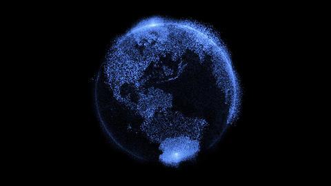 Earth hologram GIF