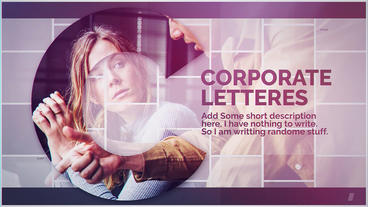 Corporate Letters After Effects Template