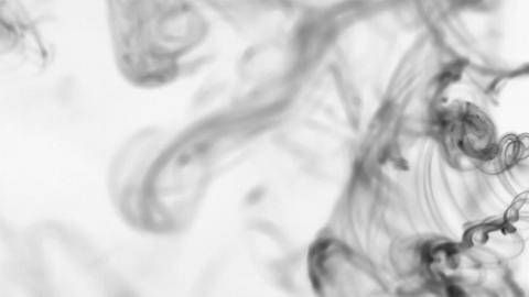 Beautiful twists of black smoke on a white background ビデオ
