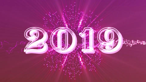 2019 with flare 7 Stock Video Footage