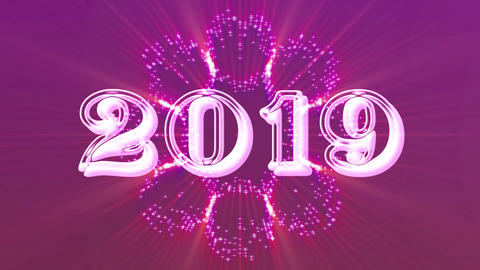 2019 with flare Animation