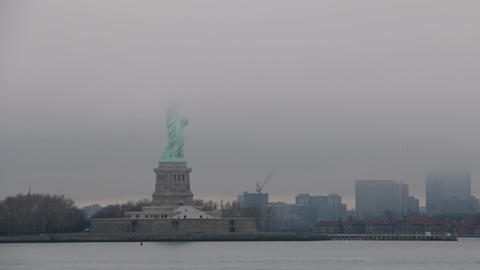 Statue of Liberty and Dense Fog GIF