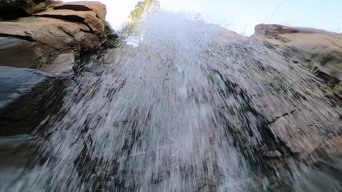 Near the waterfall Footage