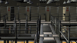 prison cell, animation Footage