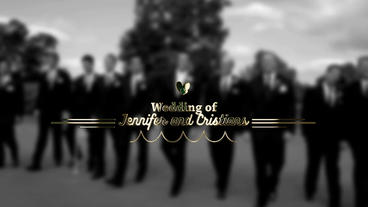 Gold Wedding Title After Effects Project