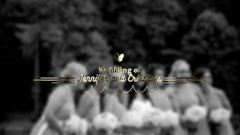 Gold Wedding Title After Effects Template