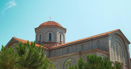 Big Christian Church in Peraia, Greece Footage