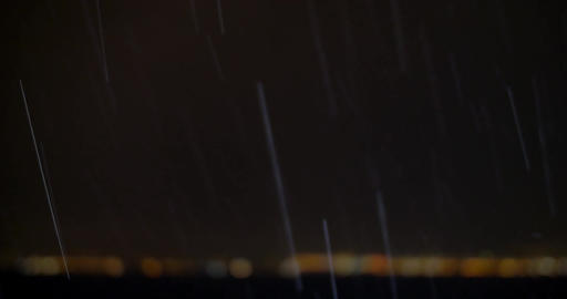 Heavy Rain over the City Footage